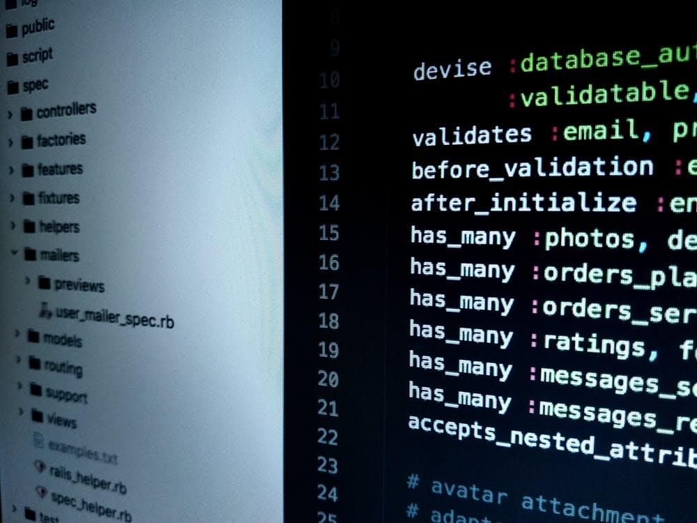 Monitor Displaying Computer Application